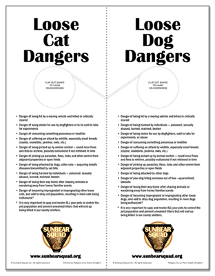 free pet safety printables