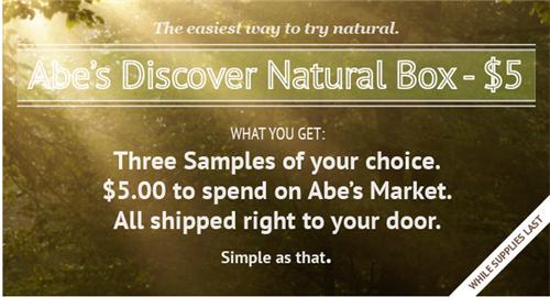 natural sample box