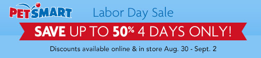 petsmart labor day sale