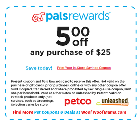 Natural Balance Dog Food Coupons >> Petco Coupon for $5 OFF Any $25 In-Store Purchase 10/5-6 Only | Woof Woof Mama