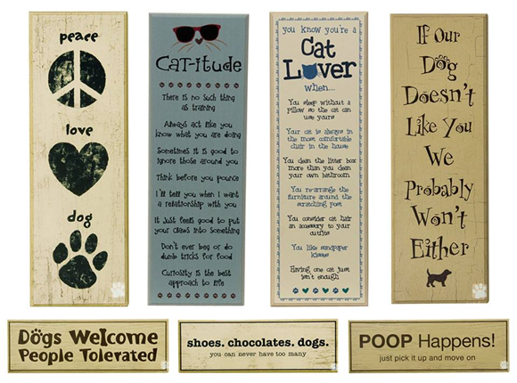 wood signs for dog and cat lovers