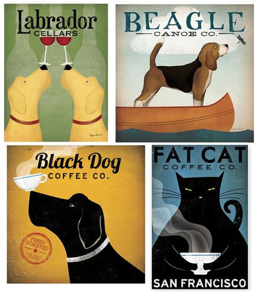 vintage pet prints