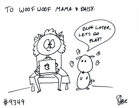 cat drawing for woof woof mama and daisy