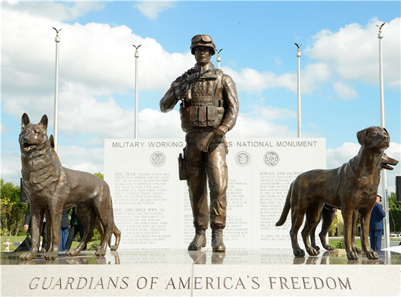 military dog monument