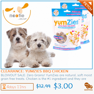 Yumzies Grain-Free US-Made Dog Treats Clearance Deal