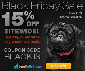 black friday starts now at best bully sticks 15 off site wide woof woof mama. Black Bedroom Furniture Sets. Home Design Ideas