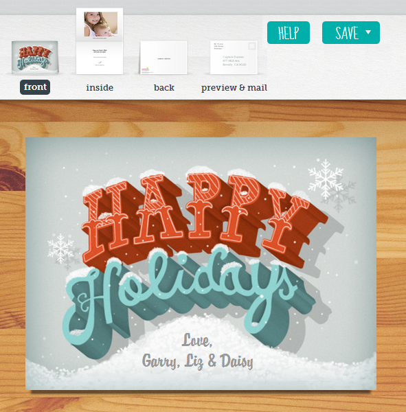 create holiday cards
