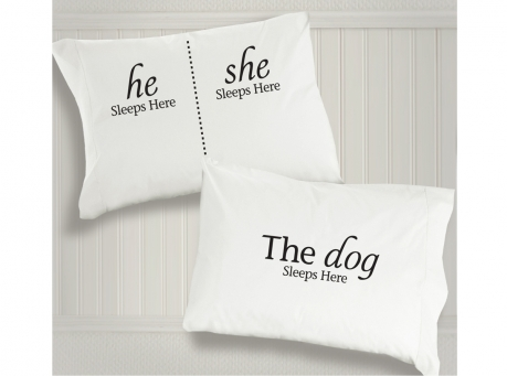 dog sleeps here pillowcases