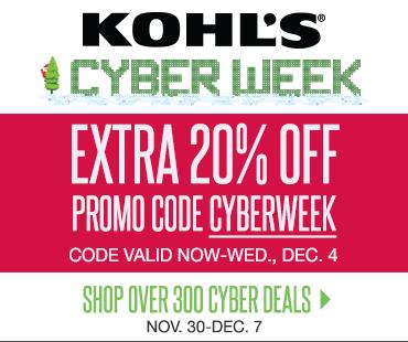 kohls cyberweek promo code