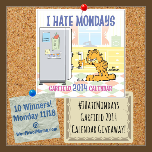 Garfield 2014 I Hate Mondays Calendar Giveaway