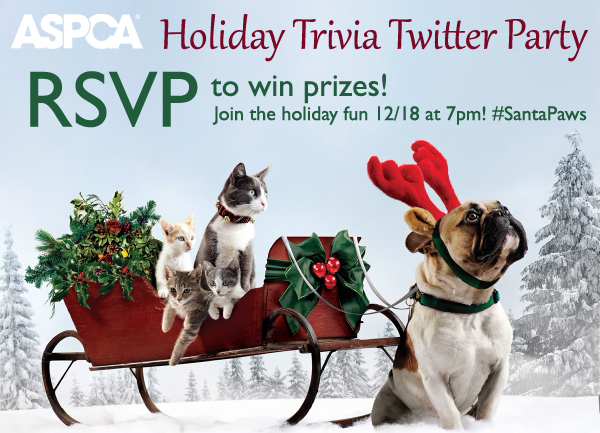 ASPCA holiday twitter party