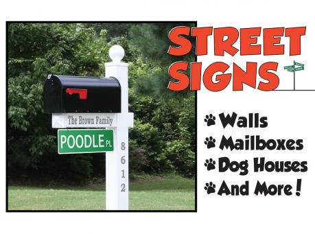 dog street signs
