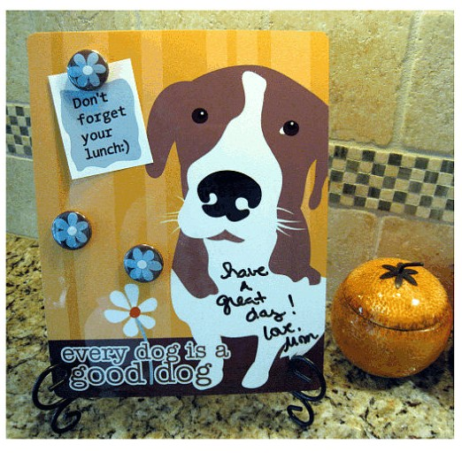 good dog dry erase memo board