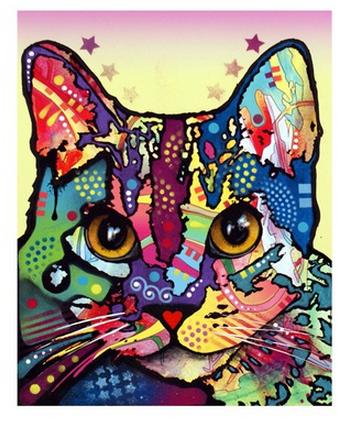 russo cat print