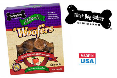 three dog woofers dog treats