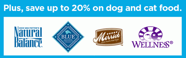 20 percent off natural pet food