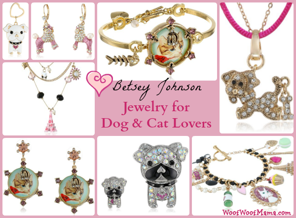 betsey johnson cat and dog jewelry