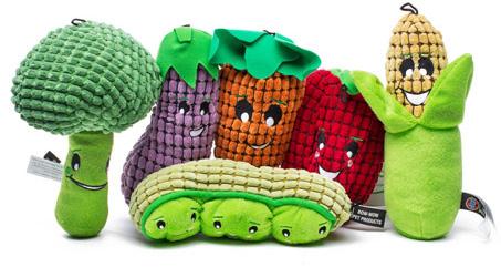 veggie dog toys