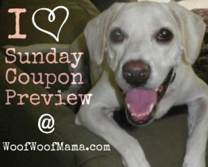 list of pet coupons in Sunday's newspaper