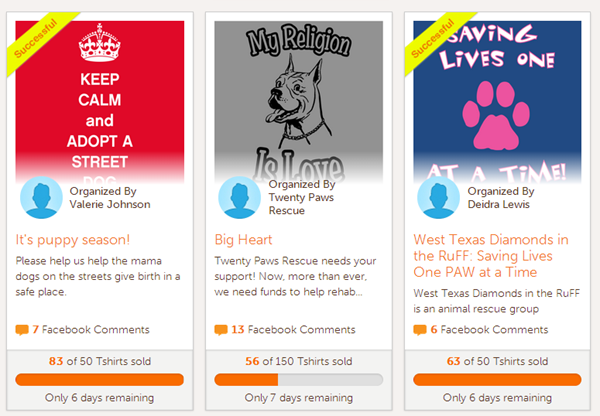 How to raise money for your favorite cause passion or pet for T shirt fundraiser site