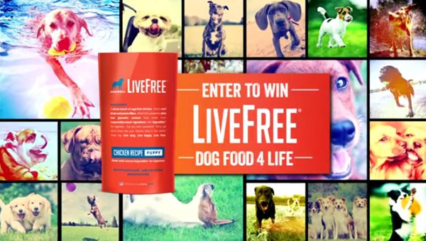 Win free dog food for life!