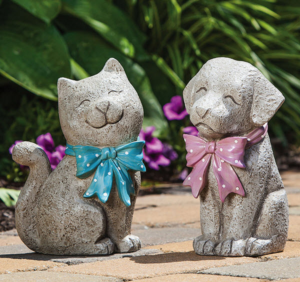 adorable pet statues