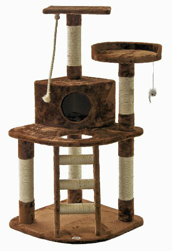 brown cat condo