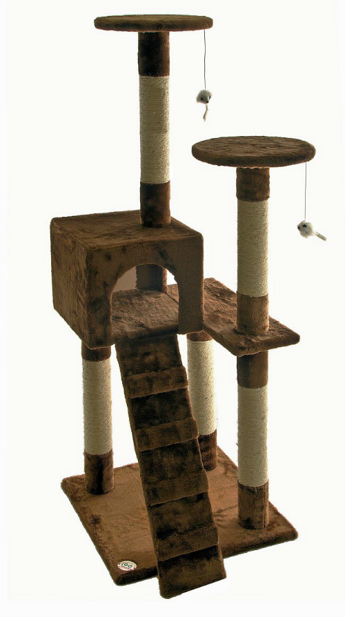 6 large and jumbo cat trees climbers and condos under for Interesting cat trees