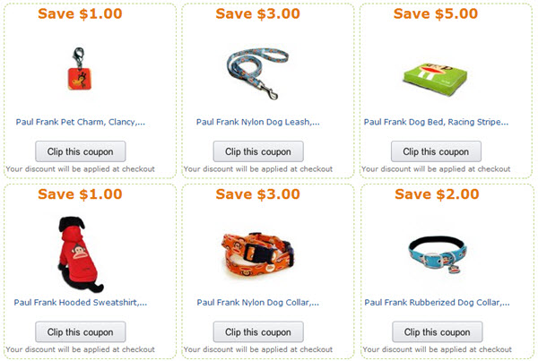 paul frank pet coupons
