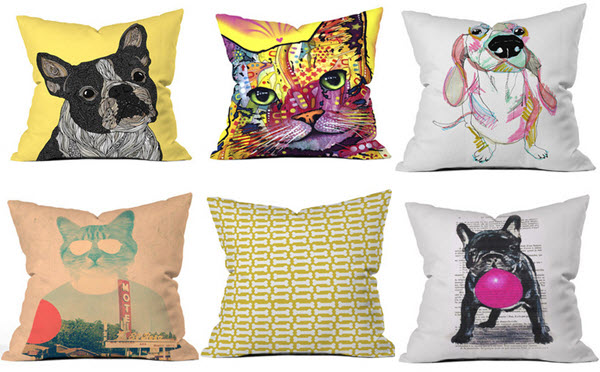 cute animal throw pillows