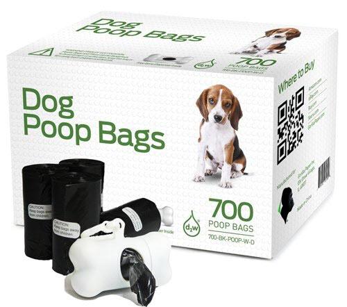 black poop bags