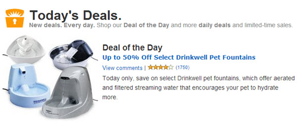 drinkwell dog fountain sale