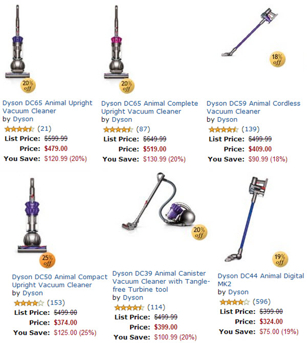 Dyson discounts and deals