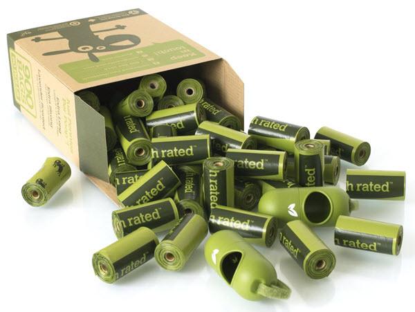 eco green poop bags