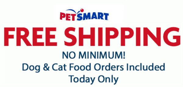 PetSmart free shipping promotion