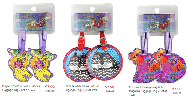 laurel burch luggage tags