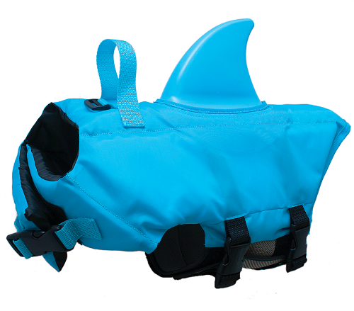 shark life jacket dogs