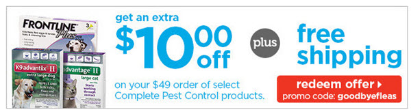 $10 off flea tick