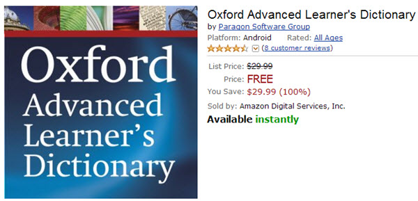free oxford dictionary app