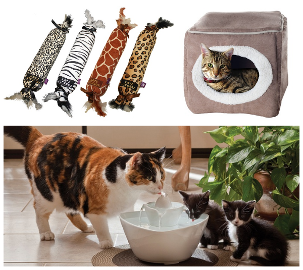 cat toys beds fountain