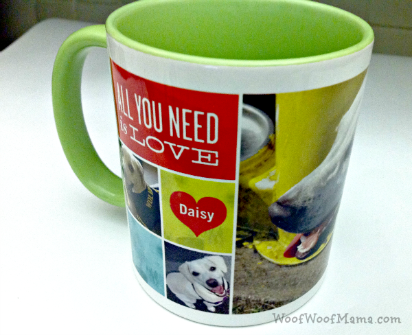 love dog mug green