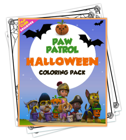 FREE Paw Patrol Halloween Pack of Printable Coloring Pages | Woof