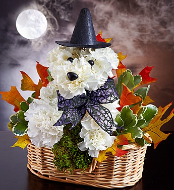 halloween dog flowers