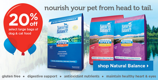 Natural Balance pet food on sale