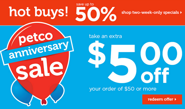 Petco $5 OFF coupon