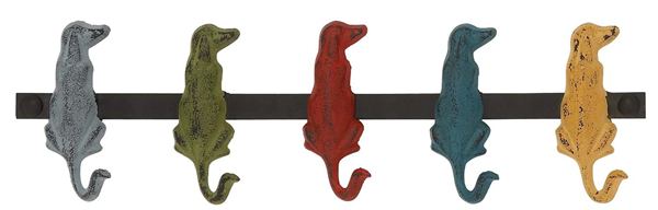 Colorful metal dog hooks