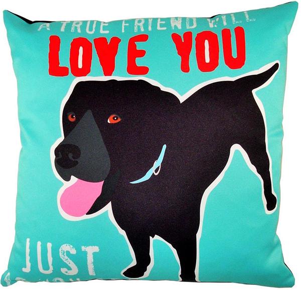 true friend dog pillow