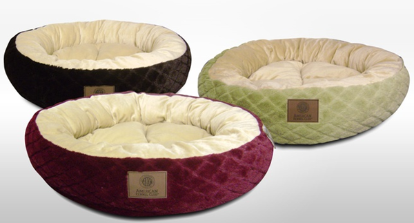 akc round pet bed