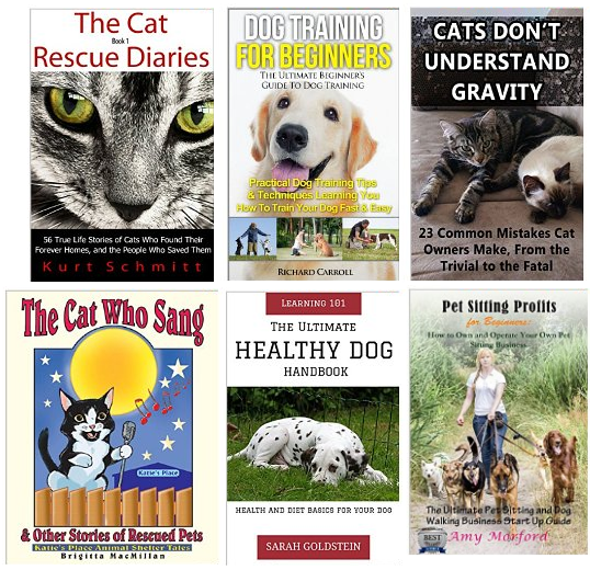free cat dog books