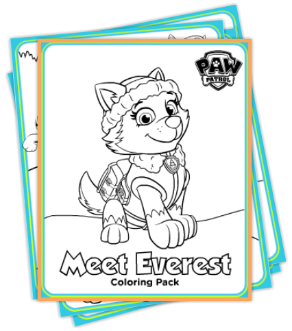 winter paw patrol printables